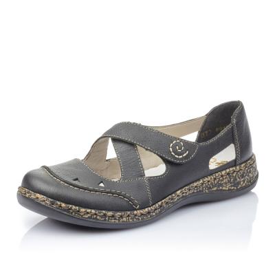 Dámská obuv RIEKER 46335-00 SCHWARZ F S 9 71f82456d3b