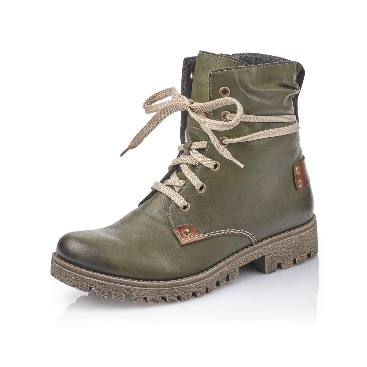 720868a055 detail Dámská obuv RIEKER 78530 52 GRÜN H W 8